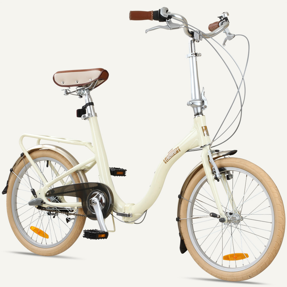 "BARCELONA Citizen Bike 20"" 3-speed Folding Cruiser with Alloy Frame"